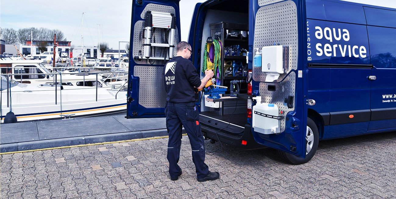 Boot onderhoud door Bonsink Aquaservice