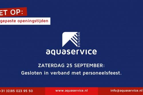 Personeelsfeest Aquaservice